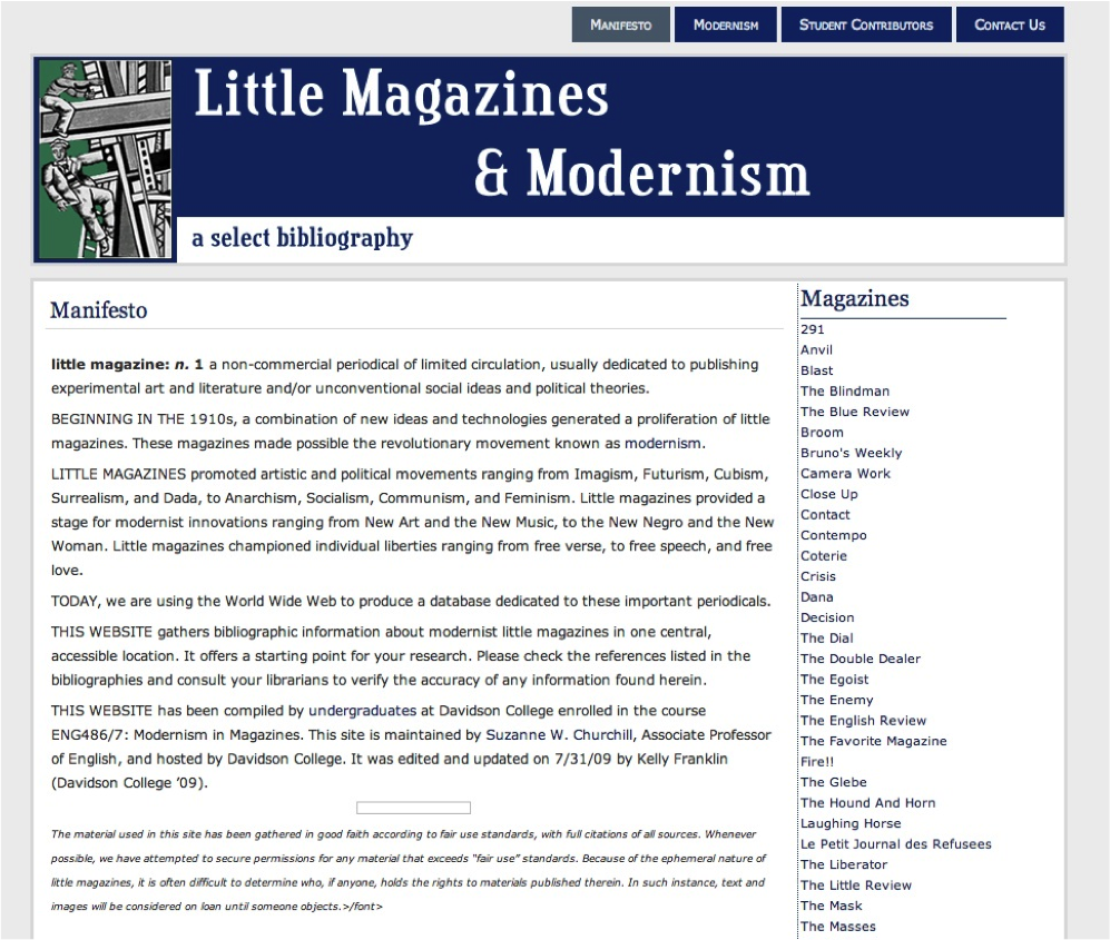 The Index of Modernist Magazines (2007 - 2012)