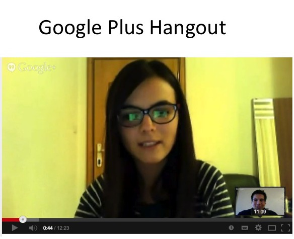 Screenshot from a Google+ Hangouts conversation.